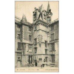 carte postale ancienne 49 ANGERS. Hôtel Pince. Verso Publicité Pétrole Hahn + tampons animaux