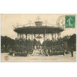 carte postale ancienne 49 ANGERS. Le Mail le Kiosque à Musiques 1909