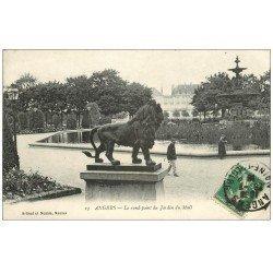 carte postale ancienne 49 ANGERS. Le Rond-Point du Jardin du Mail 1916