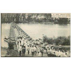 49 ANGERS. Manoeuvres du Génie transport de matériel pour construction d'un Pont de bateaux. Militaires et Régiments