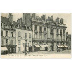 carte postale ancienne 49 SAUMUR. Ancien Hôtel Napoléon et Commerces