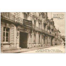 carte postale ancienne 49 SAUMUR. Grand Hôtel de la Paix et Plan de la Ville au verso