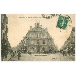 carte postale ancienne 49 SAUMUR. La Poste Rue Balzac et Orléans 1914