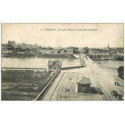 carte postale ancienne 49 SAUMUR. Vue prise de la Gare d'Orléans 1921