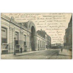 carte postale ancienne 59 ARMENTIERES. Rue de la Gare 1906