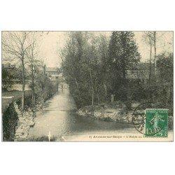carte postale ancienne 59 AVESNES-SUR-HELPE. L'Helpe 1923
