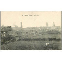 carte postale ancienne 59 BAILLEUL. Panorama