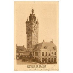 carte postale ancienne 59 BERGUES. Beffroi 1924