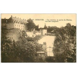 carte postale ancienne 59 BERGUES. Caserne Porte de Bierne