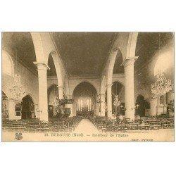 carte postale ancienne 59 BERGUES. Intérieur Eglise Saint-Martin 1930