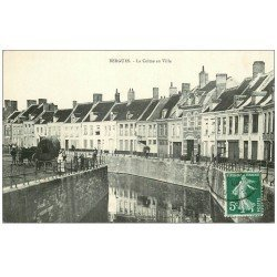 carte postale ancienne 59 BERGUES. La Colme en Ville 1908