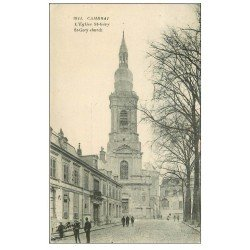 carte postale ancienne 59 CAMBRAI. Eglise Saint-Géry 1925