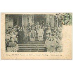 carte postale ancienne 59 CAMBRAI. Le Sacre Monseigneur Lobbedey 1907 et les Evêques