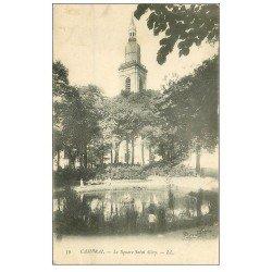 carte postale ancienne 59 CAMBRAI. Square Saint-Géry animé 1905