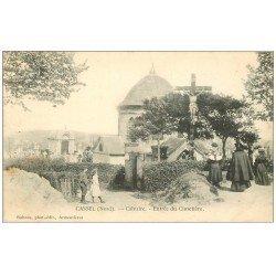 carte postale ancienne 59 CASSEL. Calvaire à l'Entrée du Cimetière vers 1904