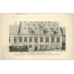 carte postale ancienne 59 CASSEL. La Conciergerie. Tramway Gare-Ville