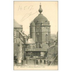 carte postale ancienne 59 DOUAI. Abside de Saint-Pierre 1907