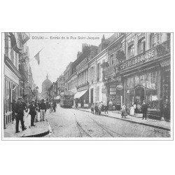 carte postale ancienne 59 DOUAI. Café de la Bourse Rue Saint-Jacques