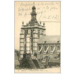 carte postale ancienne 59 DOUAI. Clocher de Saint-Pierre 1907