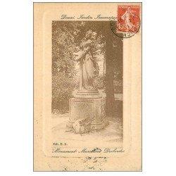 carte postale ancienne 59 DOUAI. Jardin Jemmapes Monument Desbordes 1911