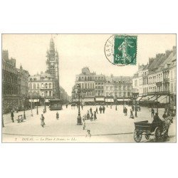 carte postale ancienne 59 DOUAI. La Place d'Armes 1908