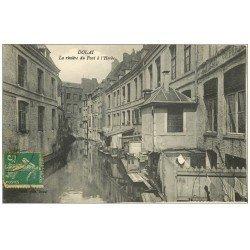 carte postale ancienne 59 DOUAI. La Rivière du Pont à l'Herbe