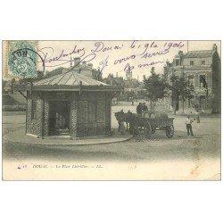 carte postale ancienne 59 DOUAI. L'Octroi Place Lhérillier 1904