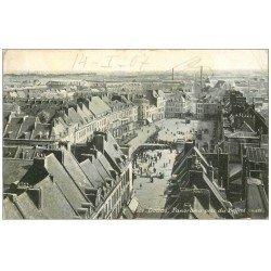 carte postale ancienne 59 DOUAI. Panorama et la file d'attente