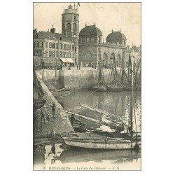 carte postale ancienne 59 DUNKERQUE. Lot 5 Cpa. Calle Pêcheurs, Chenal, Phare, Sous-Préfecture, Beffroi et Eglise Saint-Eloi