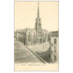carte postale ancienne 59 LILLE. Eglise Saint-Maurice vers 1900