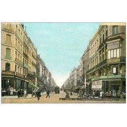 carte postale ancienne 59 LILLE. La Rue Nationale Epicerie Parisienne et Félix Potin