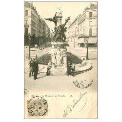 carte postale ancienne 59 LILLE. Le Monument de Testelin 1903