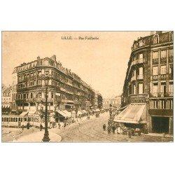 carte postale ancienne 59 LILLE. Rue Faidherbe