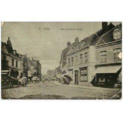 carte postale ancienne 59 LILLE. Rue Pierre Legrand (carte abîmée)...
