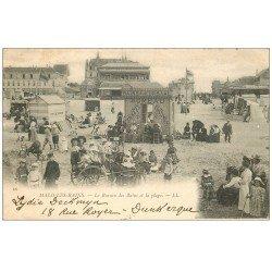 59 MALO-LES-BAINS. Le Bureau des Bains. Location de costumes de bains au Kursaal et ballade en Carriole vers 1900