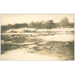 carte postale ancienne 59 MALO-LES-BAINS. Rare Carte Photo la Plage en Hiver. Photographe losfeld 17 Avenue Gaspard-Malo 1929
