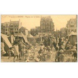 carte postale ancienne 59 MALO-LES-BAINS. Repos sur le Sable 1928
