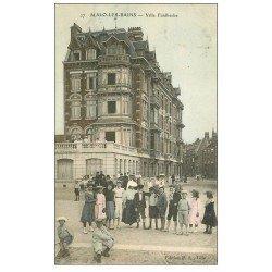 carte postale ancienne 59 MALO-LES-BAINS. Villa Faidherbe 1907 colorisée