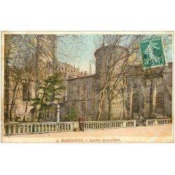 carte postale ancienne 11 NARBONNE. Ancien Archevêché 1909