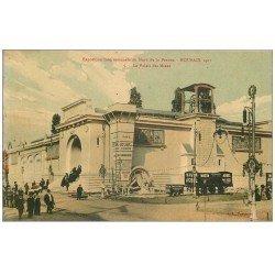 carte postale ancienne 59 ROUBAIX. Exposition de 1911. Palais des Mines. Wagon Arbel. Superbe Edition Laffineur Samin