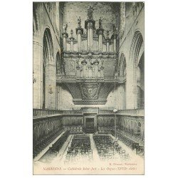 carte postale ancienne 11 NARBONNE. Les Orgues Cathédrale Saint-just 1910