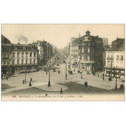 Lot de 10 Cpa ROUBAIX 59. Grand Place, Chambre Commerce, Gare, Château, Grotte, Palais Justice, Hôtel de Ville, Eglise