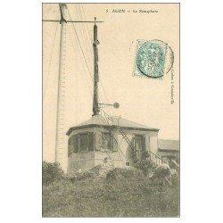 carte postale ancienne 50 AGON. Le Sémaphore 1906 avec Moutons