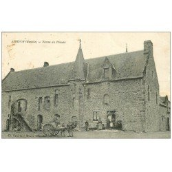 carte postale ancienne 50 ARDEVON. Ferme du Prieuré Attelage