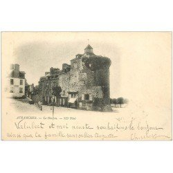 carte postale ancienne 50 AVRANCHES. Donjon 1901