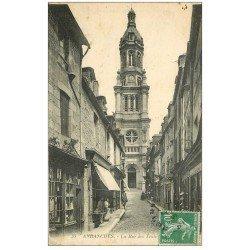 carte postale ancienne 50 AVRANCHES. Eglise Rue des Trois-Rois 1923