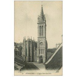 carte postale ancienne 50 AVRANCHES. Eglise Saint-Saturnin
