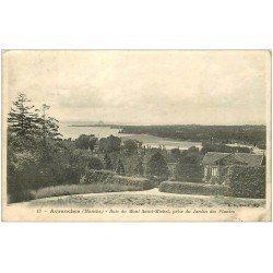 carte postale ancienne 50 AVRANCHES. Jardin des Plantes et Baie Saint-Michel 1905