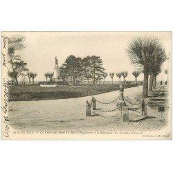 carte postale ancienne 50 AVRANCHES. Pierre Henri II Roi Angleterre 1904