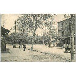 carte postale ancienne 11 NARBONNE. Square et Boulevard de la révolution 1914